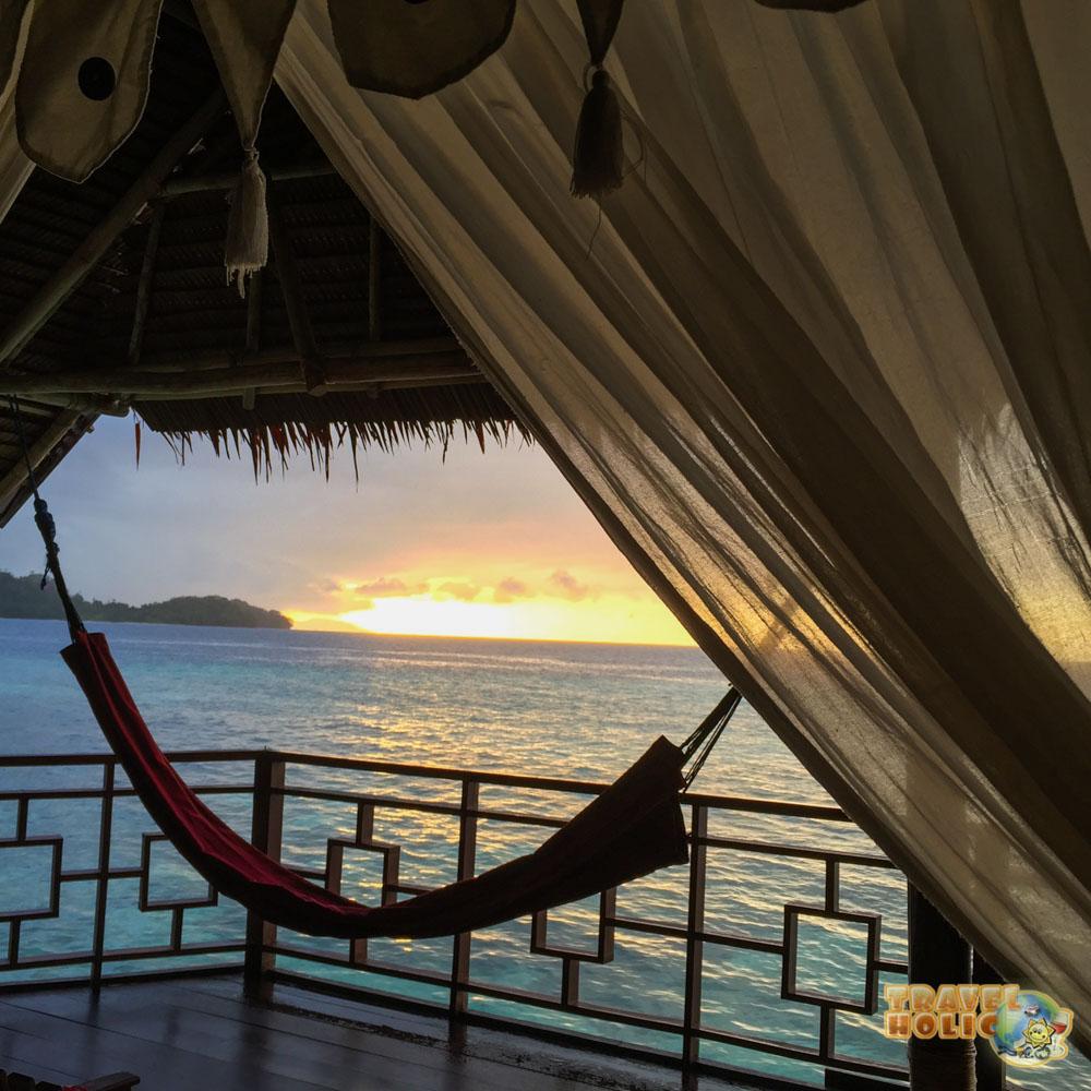 Papua Paradise, vue de la chambre