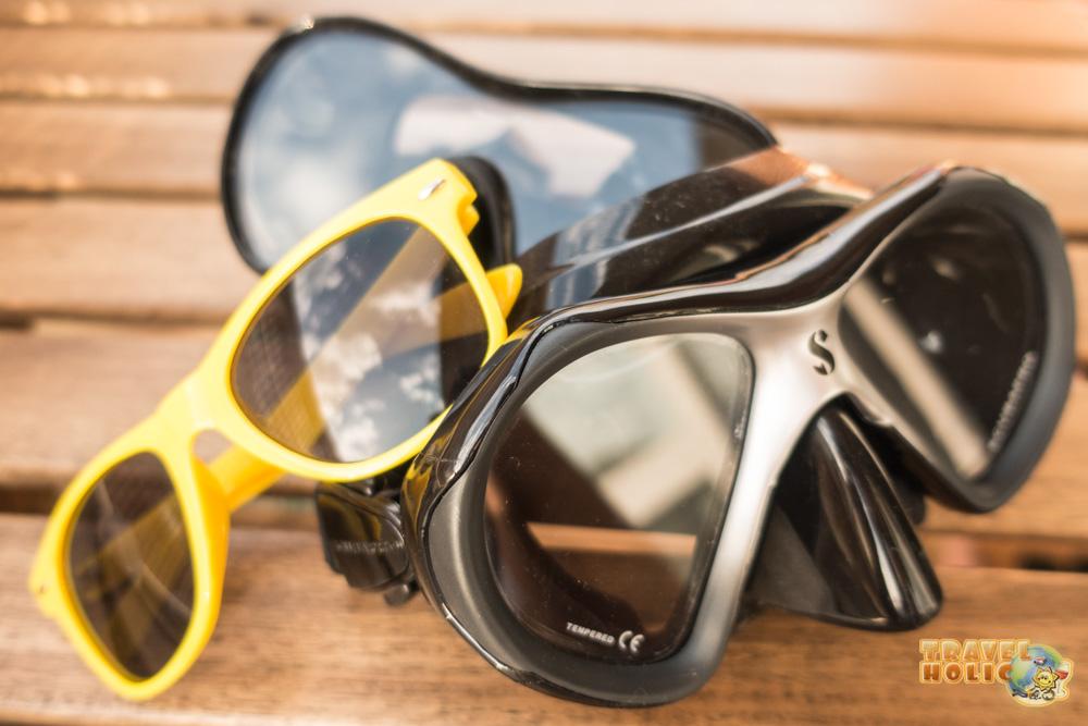 Masques Scubapro et lunettes PADI