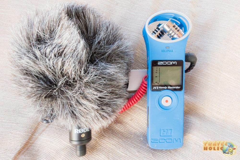 équipement photo et vidéo Zoom H1 et micro Rode